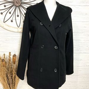 NWT James Perse Double Breast Black Coat